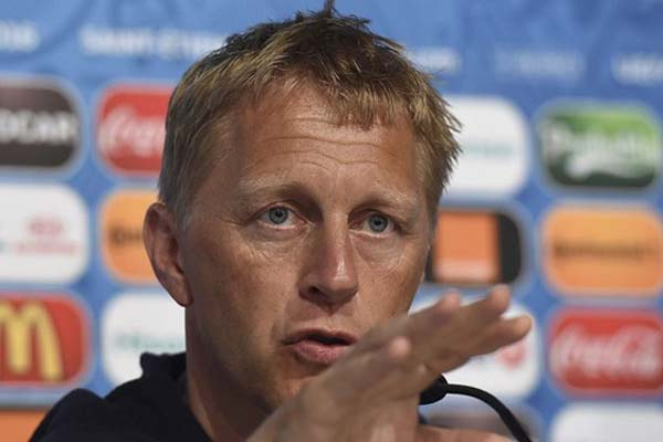 Pelatih Timnas Islandia Heimir Hallgrimsson - Reuters