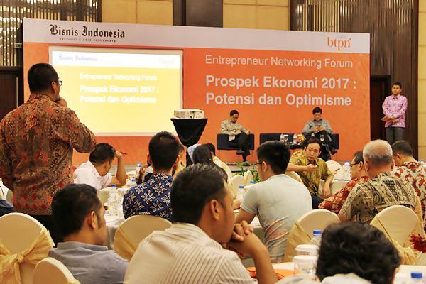 Suasana tanya jawab dalam Entrepreneur Networking Forum, di Balikpapan, Jumat (24 - 2).JIBI/Nadya Kurnia