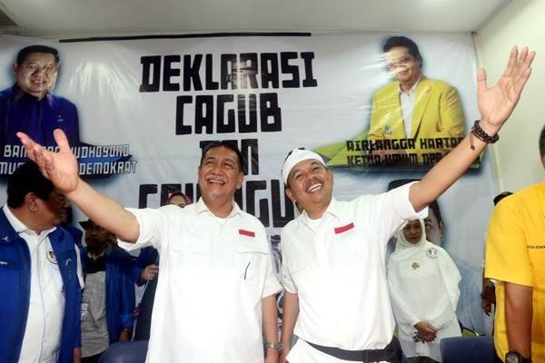 Pasangan bakal calon gubernur dan wakil gubernur Jawa Barat Deddy Mizwar (kiri) dan Dedi Mulyadi (dua DM) - JIBI/Rachman