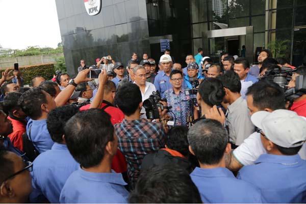 SP JICT di Gedung KPK di Jakarta. - Istimewa-SP JICT