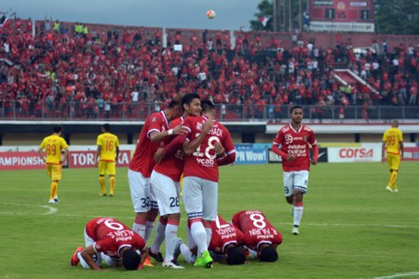 Pemain Bali United - Antara/Wira Suryantala