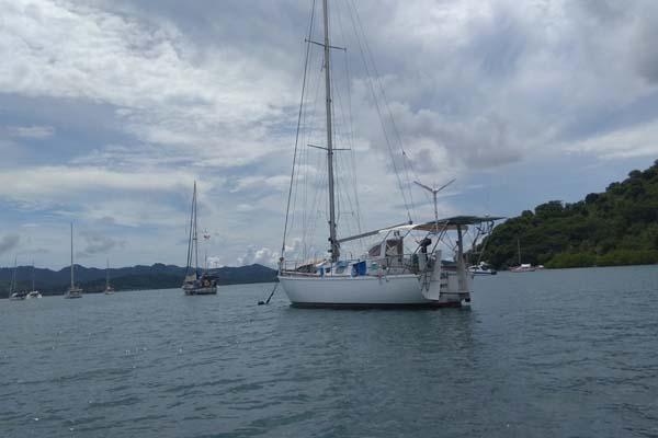 Sebanyak 18 kapal yacht parkir di Gili Gede dengan biaya parkir sebesar US110 per bulan untuk setiap kapalnya. - Bisnis.com/Eka Chandra Septarini