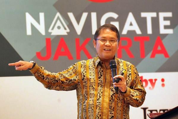 Menteri Komunikasi dan Informatika Rudi Antara berbicara pada Indonesia Japan Digital Nexicorn Meet Up, di Jakarta, Selasa (12/9). - JIBI/Dedi Gunawan
