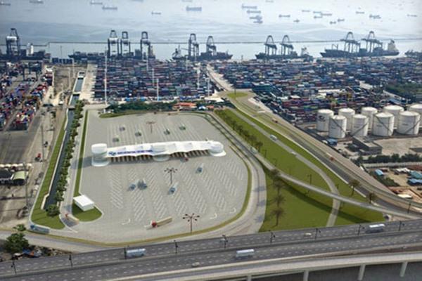 Kawasan terminal peti kemas JICT dan TPK Koja, Tanjung Priok. - Bisnis