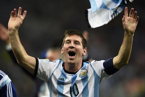 Lionel Messi dalam jersey Argentina - Reuters/Dylan Martinez