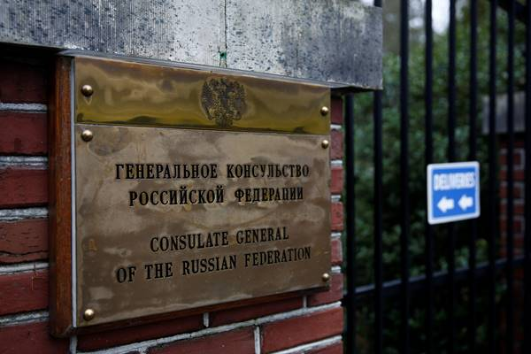 Konsulat Jenderal Federasi Rusia di Seattle, Washington Amerika Serikat (AS), 26 Maret 2018 - Reuters