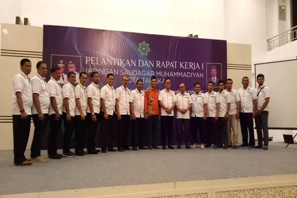 Pengurus Jaringan Saudagar Muhammadiyah (JSM) Kota Tarakan usai pelantikan, Selasa (27/3) - Bisnis.com/Eldwin Sangga
