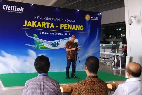 Peresmian penerbangan Citilink rute Jakarta-Penang. - Bisnis/Oktaviano DB. Hana