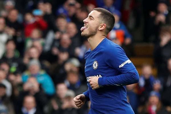 Gelandang Chelsea Eden Hazard - Reuters/Paul Childs