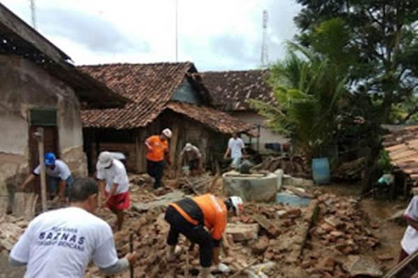 Ilustrasi kerusakan akibat gempa. - Istimewa