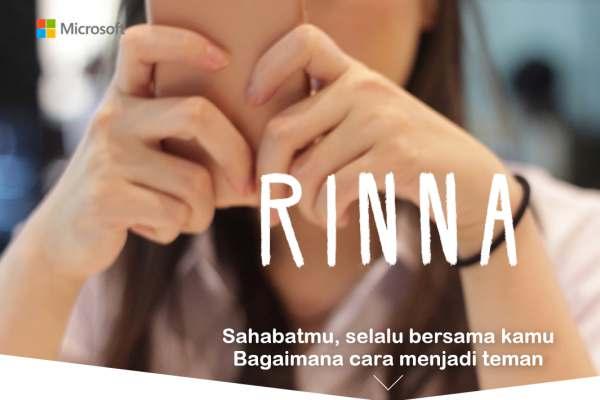 Gambar kampanye Rinna, bot berteknologi kecerdasan buatan Microsoft - blog.microsoft.com
