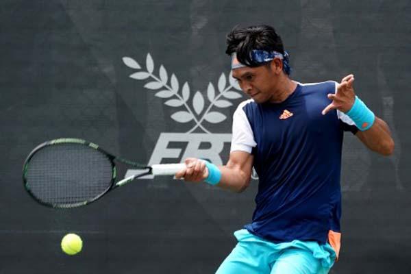 Bintang tenis Indonesia Christopher Rungkat - Antara/Sigid Kurniawan