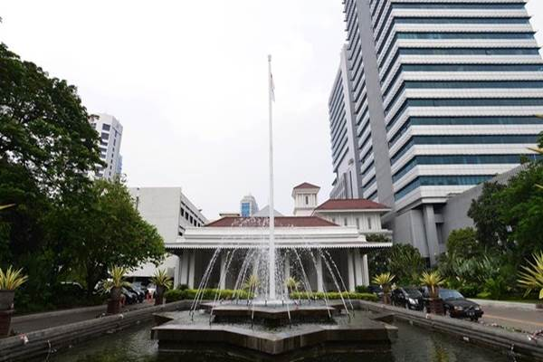 Air mancur di Balai Kota DKI Jakarta - Istimewa
