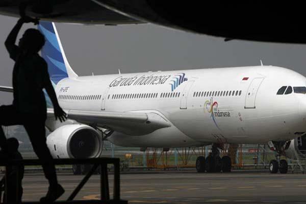 Pesawat Garuda Indonesia di Bandara Soekarno-Hatta - Reuters/Dadang Tri