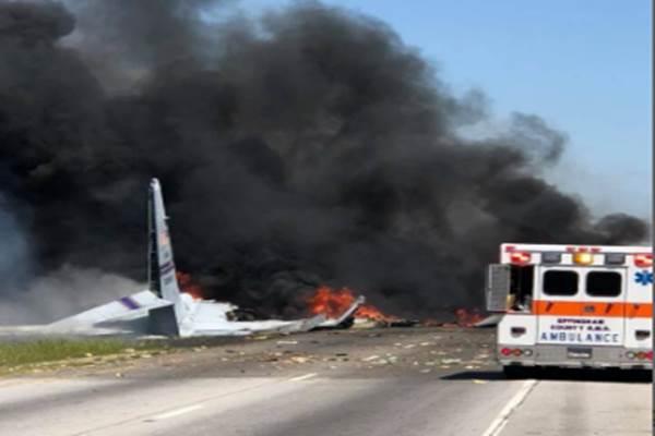 Kondisi pesawat yang jatuh di Georgia pada Rabu. - .Reuters