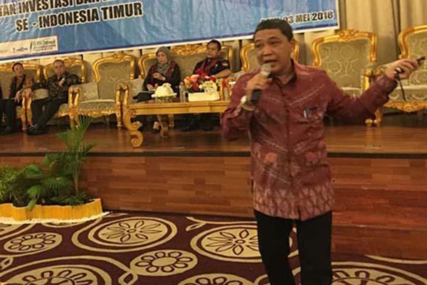 Direktur Utama PT Pelabuhan Indonesia (Pelindo) IV Doso Agung saat berbicara pada seminar Peningkatan Investasi dan Ekspor Nonmigas pekan lalu di Palu, Sulawesi Tengah. - Istimewa