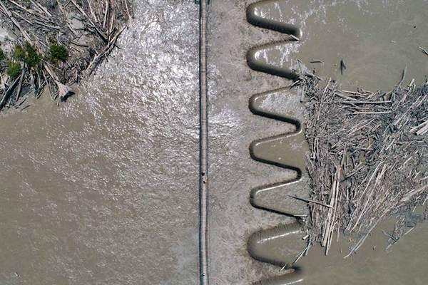 Ilustrasi: Foto aerial suasana Bendung Tami di daerah Irigasi Koya, Jayapura, Papua, Selasa (14/11). - JIBI/Nurul Hidayat