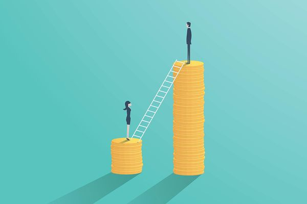 Ilustrasi perbedaan gaji berdasarkan gender. - Istimewa