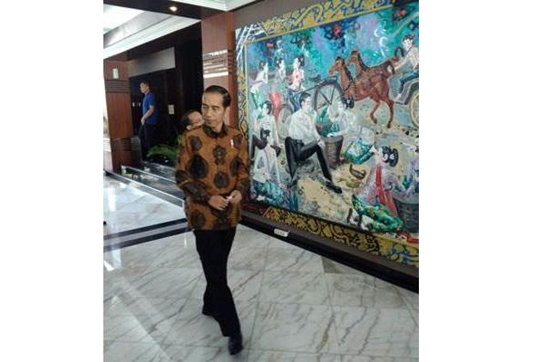 Presiden Joko Widodo saat berkunjung ke kantor Kementerian Sekretariat Negara, Jumat (23/3/2018). - setneg