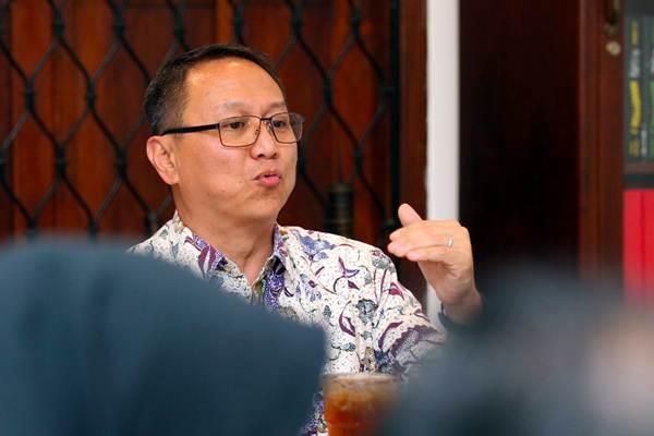 Presiden Direktur MNC Bank Benny Purnomo memberikan penjelasan saat acara ngopi bareng Media, di Jakarta, Selasa (17/4/2018). - JIBI/Abdullah Azzam