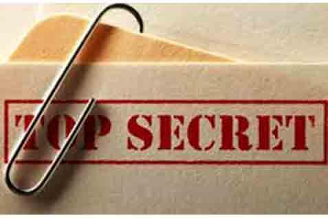 Dokumen rahasia intelijen - ilustrasi