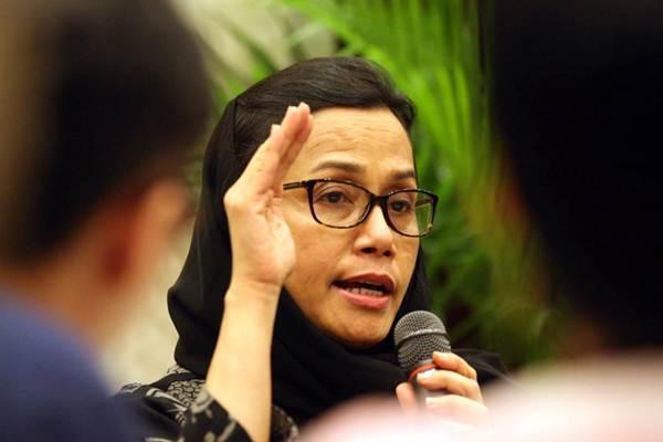 Menteri Keuangan Sri Mulyani Indrawati memberikan penjelasan mengenai perkembangan ekonomi terkini di sela-sela buka puasa bersama awak media di Jakarta, Selasa (5/6/2018). - JIBI/Dedi Gunawan