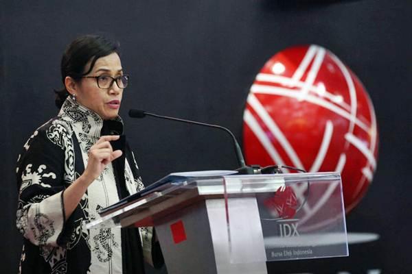 Menteri Keuangan Sri Mulyani Indrawati menyampaikan  sambutan pada  peluncuran Laporan Triwulanan Perekonomian Indonesia Juni 2018 oleh World Bank Indonesia di Jakarta,Rabu (6/6/2018). - JIBI/Dedi Gunawan