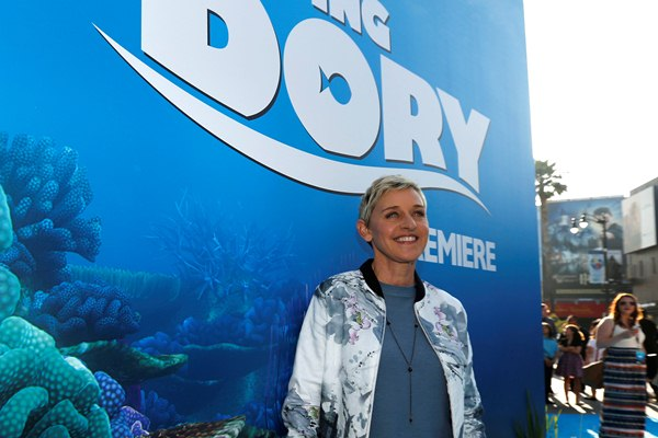 Ellen DeGeneres dalam pemutaran perdana film Finding Dory di Hollywood - Reuters