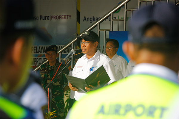 General Manager PT Angkasa Pura I (Persero) Bandara Sam Ratulangi Minggus Gandeguai. - Bisnis/Kurniawan A. Wicaksono