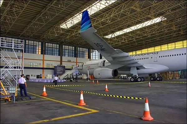 Fasilitas perawatan pesawat milik Garuda Maintenance Facility Aero Asia Tbk - Istimewa