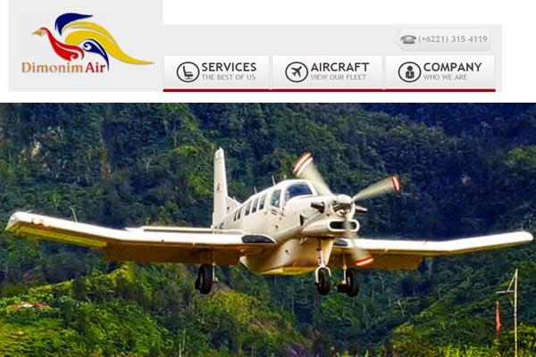 Pesawat Demonim Air PK-HVQ jenis PAC 750 XSTOL yaang jatuh di Gunung Menuk kecamatan Oksibil Kabupaten Kabupaten Pegunuangan Bintang, Papua Sabtu (11/8 - 2018). Foto: demonimair.com