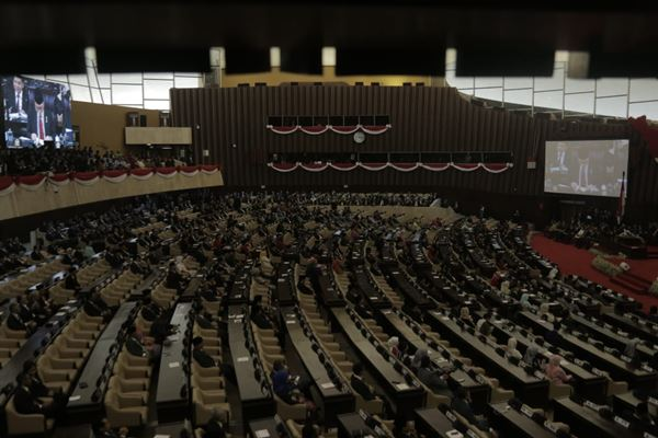 Suasana Sidang Tahunan MPR 2018 di Gedung DPR/MPR, Kamis (16/8). - JIBI/Felix Djody