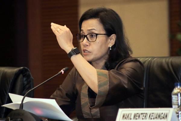 Menteri Keuangan Sri Mulyani memberikan paparan dalam konferensi pers terkait APBN di Jakarta, Selasa (17/7/2018). - JIBI/Felix Jody Kinarwan