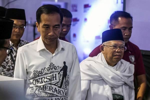 Pasangan Calon Presiden dan Wakil Presiden Joko Widodo (kiri) dan Ma'ruf Amin (kanan) - ANTARA/Hafidz Mubarak A