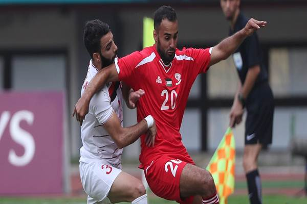 Palestina tersingkir dari sepakbola Asian Games setelah kalah 0-1, Kamis (23/8/2018) - INASGOC