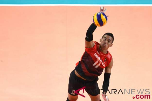 Tim bola voli pria Indonesia di Asian Games 2018 - Antara