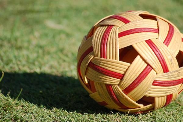 Ilustrasi bola sepak takraw - Antara