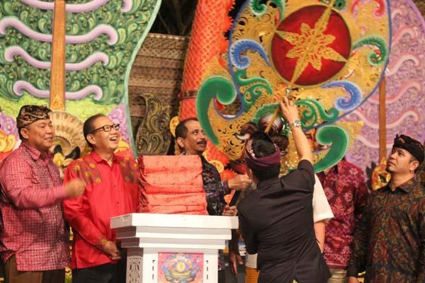 Suasana Pembukaan Sanur Village Festival 2018 di Pantai Matahari Terbit, Kamis (23/8/2018) malam. - Bisnis/ Ni Putu Eka Wiratmini