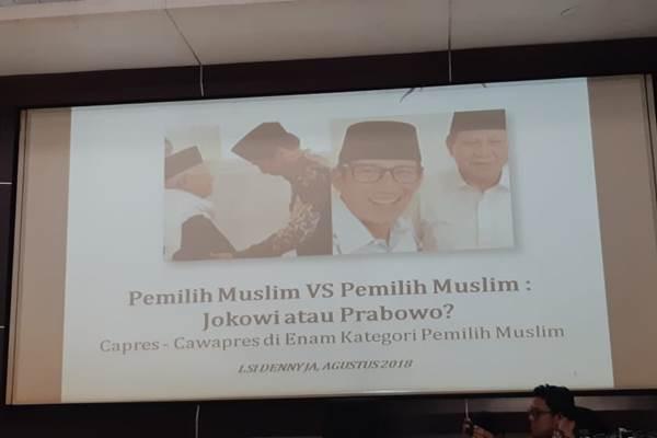 Paparan hasil survei LSI Denny JA atas pemilih Muslim di Indonesia - M. Ridwan