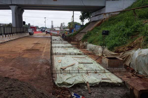 Pekerjaan proyek jalan tol Jakarta-Cikampek II (Elevated) - Istimewa-Jasa Marga
