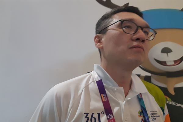 Wakil Direktur Unit Merchandise dan Retail Asian Games 2018 Organizing Committee (INASGOC) Mochtar Sarman./JIBI/BISNIS - Regi Yanuar