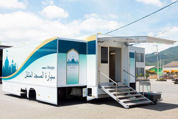 Masjid berjalan (mobile mosque) yang akan digunakan pada penyelenggaraan Olimpiade 2020 di Tokyo, Jepang. - Istimewa