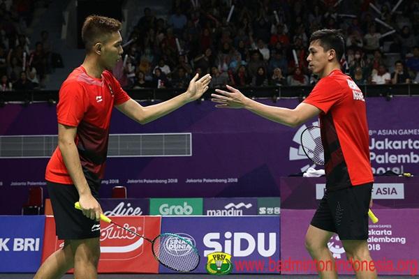 Ganda putra Indonesia, Fajar Alfian - Muhammad Rian Ardianto - Badminton Indonesia