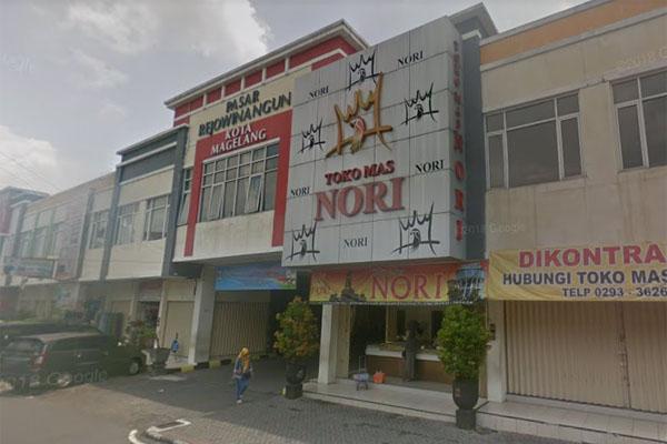 Pasar Rejowinangun Kota Magelang, Jawa Tengah. Foto Google Maps November 2017.