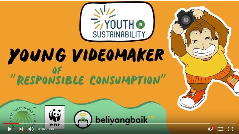 Kampenye pengumuman  kompetisi 'Young Videomaker of Responsible Consumption' di salah satu situs agregator video. - Istimewa