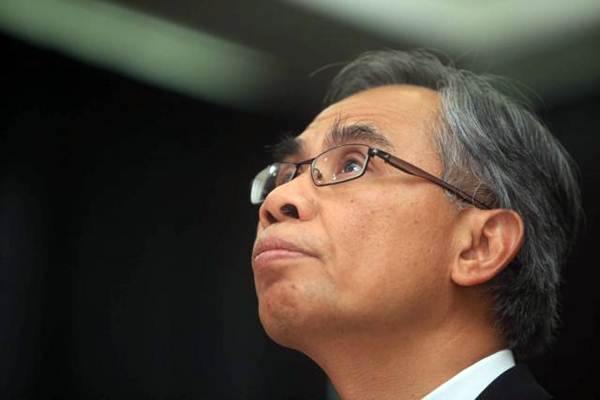 Ketua Dewan Komisioner Otoritas Jasa Keuangan (OJK) periode 2017-2022 Wimboh Santoso saat menghadiri serah terima jabatan, di Jakarta, Kamis (20/7). - JIBI/Nurul Hidayat