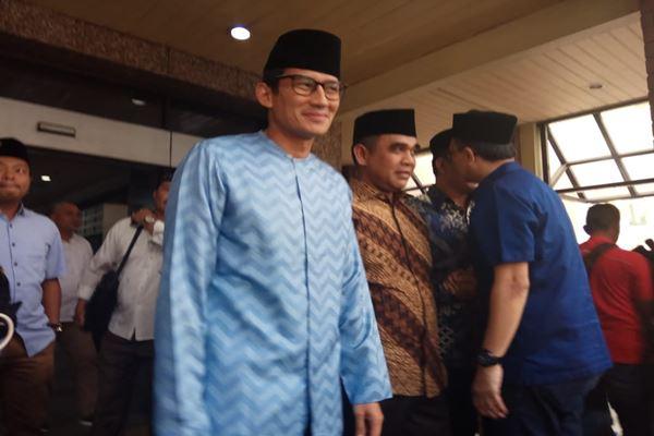 Calon wakil presiden Sandiaga Uno berkunjung ke PBNU, Kamis (16/8). - JIBI/MUhammad Ridwan