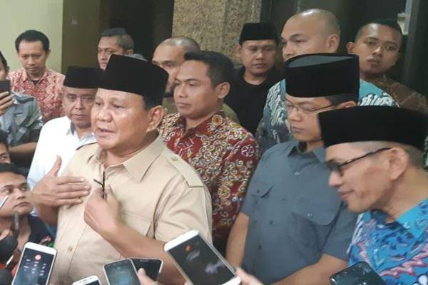 Prabowo Subianto di kantor PBNU, Jumat (16/8). - JIBI/Muhammad Ridwan