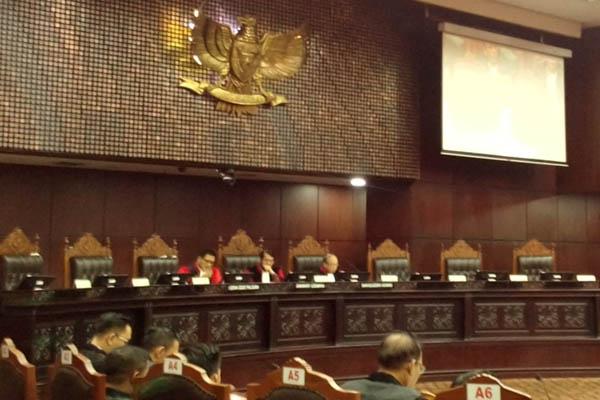 Sidang pemeriksaan pendahuluan sengketa pilkada 2018 di Mahkamah Konstitusi Jakarta, Kamis (26/7/2018). - Bisnis/Samdysara Saragih