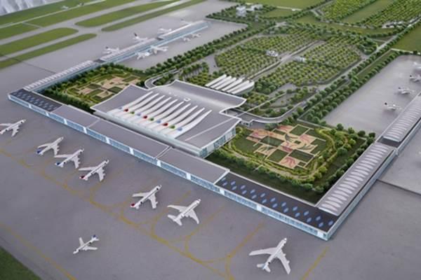 Lanskap Proyek Bandara Kertajati, Majalengka, Jabar. - Antara/Yudhi Mahatma
